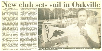 New club sets sail in Oakville