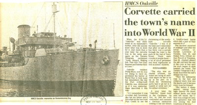 Corvette carried town's name into World War II
