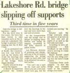 Lakeshore Rd. bridge slipping off supports