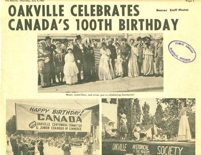 Oakville Celebrates Canada's 100th Birthday