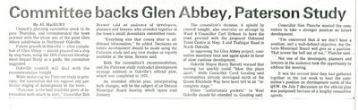 Committee backs Glen Abbey, Paterson Study