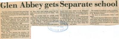 Glen Abbey gets Separate school
