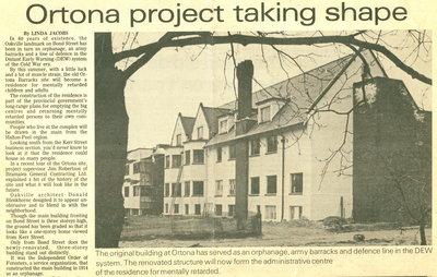 Ortona project taking shape