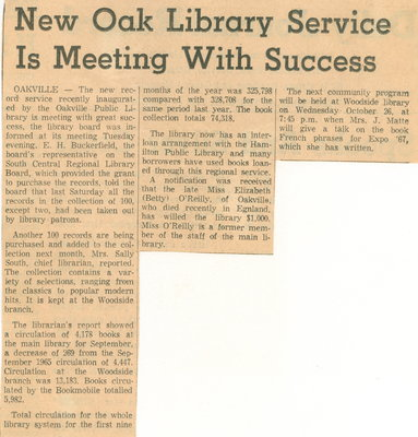 New Oak library service is meeting with success