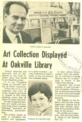 Art collection displayed at Oakville library