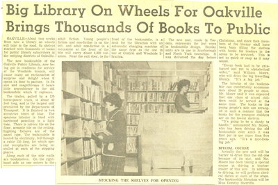 Big library on wheels for Oakville