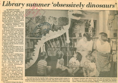 Library summer 'obsessively dinosaurs'