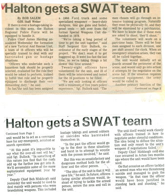 Halton gets a SWAT team