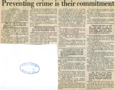 Preventing crime is their commitment to region