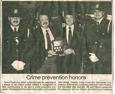 Crime prevention honors