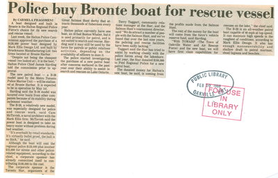 Police buy Bronte boat for vessel