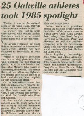 25 Oakville athletes took 1985 spotlight