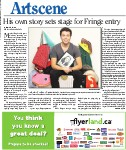 His own story sets stage for Fringe entry