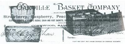 Oakville Basket Company advertisement
