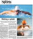 Making a splash: swimmers Sinead Russel, Tera Van Beilen have their sights on 2012 Olympics