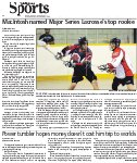 MacIntosh named Major Series Lacrosse's top rookie