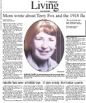 Mom wrote about Terry Fox and the 1918 flu