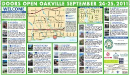Doors Open Oakville September 24-25, 2011
