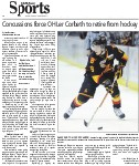 Concussions force OHLer Corbeth to retire from hockey