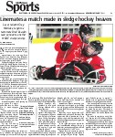 Linemates a match made in sledge hockey heaven