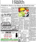 Nutrition elusive for those on fixed income