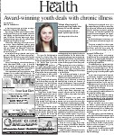 Award-winning youth deals wit chronic illness