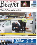 Man shot at police station