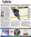 Aquinas hockey team following successful blueprint