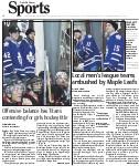 Local men's league teams ambushed by Maple Leafs