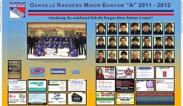 "Oakville Rangers Minor Bantam ""A"" 2011-2012"