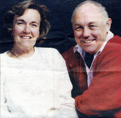 John Barry French and his wife Gloria