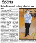 Butterflies coach helping athletes soar