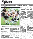 Trinity pulls off senior quad-A soccer sweep: Titans keeper leads boys to win in penalty kicks