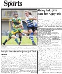 Abbey Park girls earn first rugby title