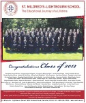 St. Mildred's-Lightbourn School: congratulations class of 2012