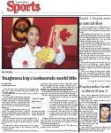 Toughness keys taekwondo world title