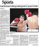 Oakville boxer holding nothing back in pursuit of title