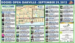 Doors Open Oakville: September 29, 2012