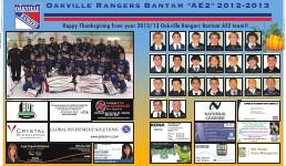 """Oakville Rangers Bantam """"AE2"""" 2012-2013"""