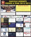 Oakville Hornets Peewee A Team 2012/2013