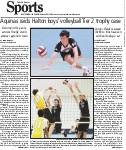 Aquinas raids Halton boys' volleyball Tier 2 trophy case