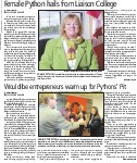 Would-be entrepreneurs warm up for Pythons' Pit