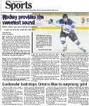 Goaltender backstops Ontario Blue to surprsing gold