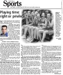 Playing time: right or privilege