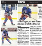Twelve Rangers, six other Oakville residents selected in OHL draft