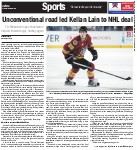 Unconventional road led Kellan Lain to NHL deal: T.A. Blakelock high school team helped forward enjoy hockey again