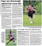 King's win third straight regional boys' soccer title