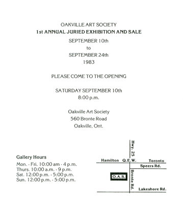 Invitation: 1st Annual Juried Art Exhibition