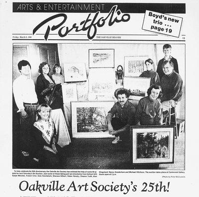 Arts & Entertainment Clipping: Oakville Art Society's 25th Anniversary