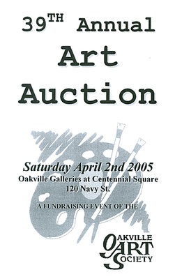 Brochure for 39th Annual Art Auction